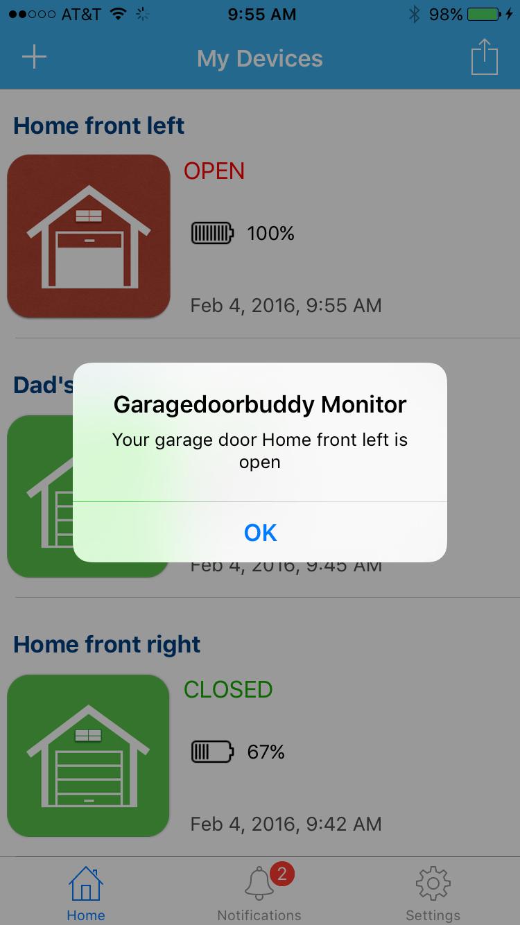 Smartphone Garage Door Opener Garagedoorbuddy